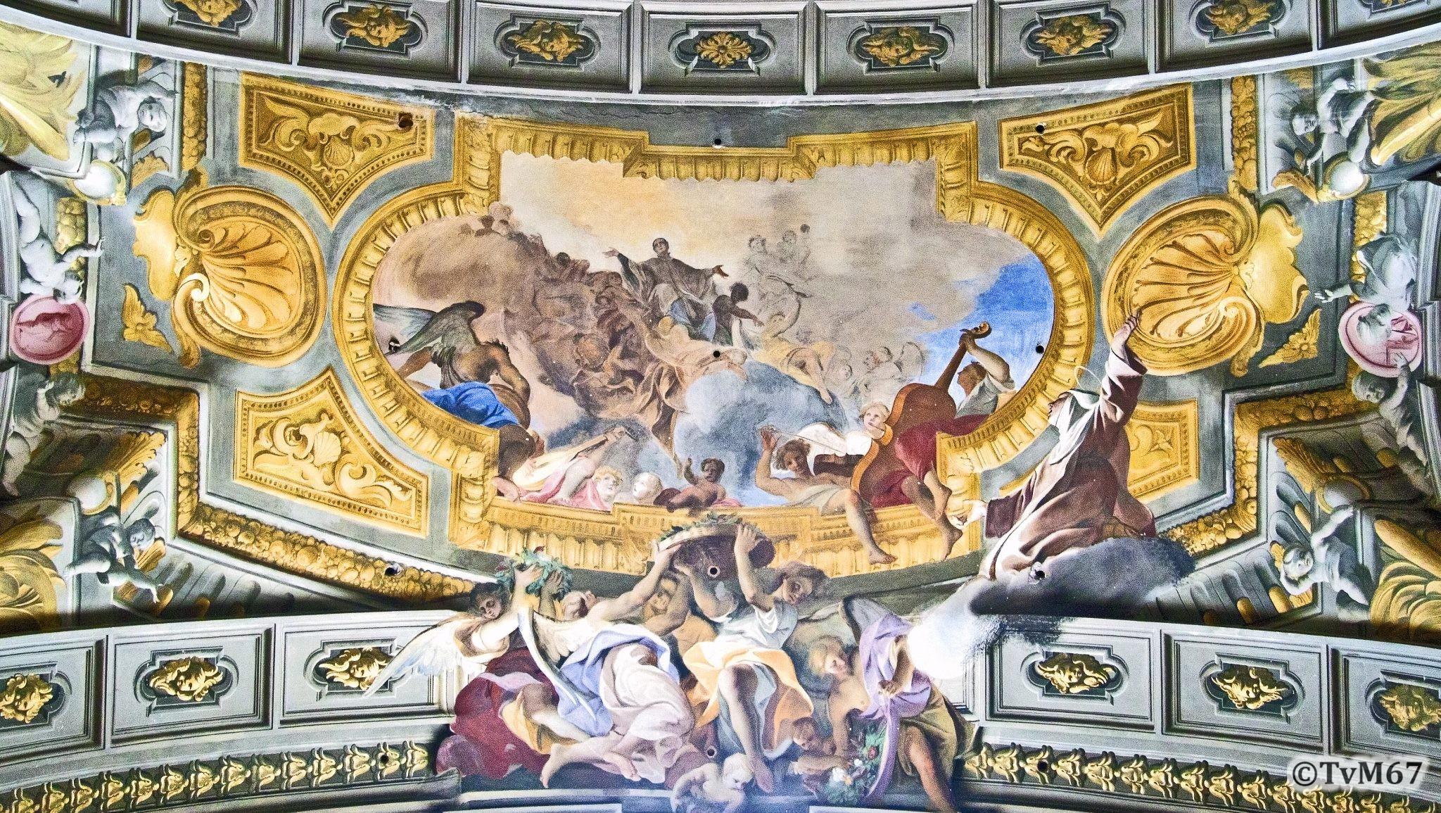 Roma, Chiesa di Sant'Ignazio, trans re, gewelfboog, 2011
