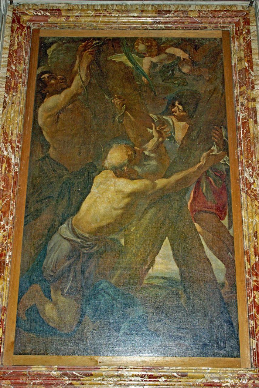 Altare di Sant'Andrea, Brandi, Martelaarschap van Sint Andreas