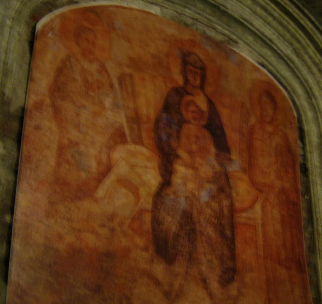 Roma, Chiesa di Santa Maria in Via Lata, Crypte, Fresco (internet)