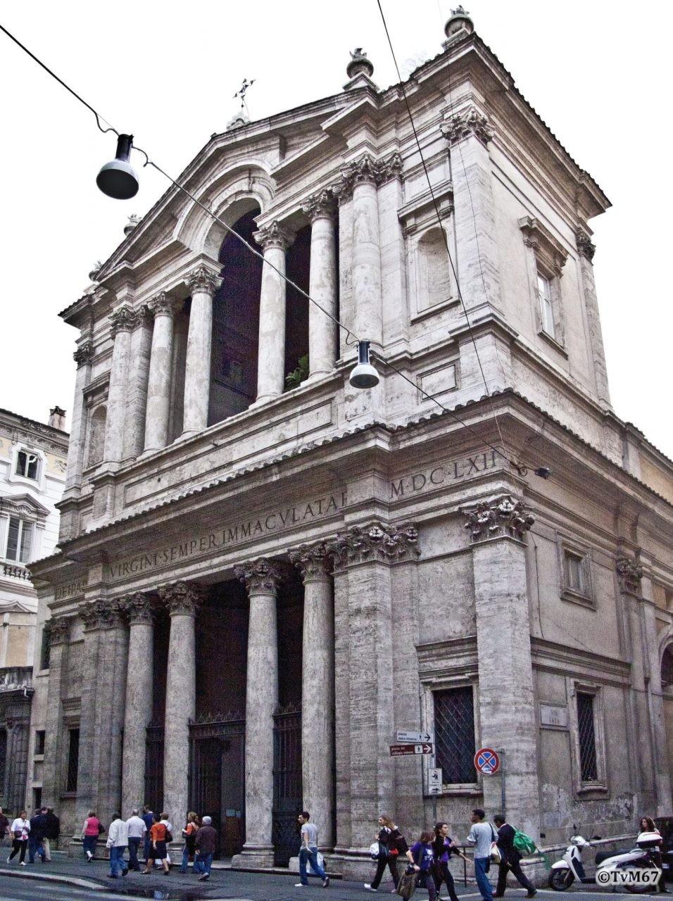 Roma, Chiesa di Santa Maria in Via Lata, Gevel, 2009