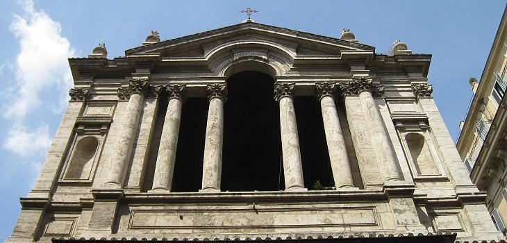 Roma, Chiesa di Santa Maria in Via Lata, Gevel, bovendeel (internet)