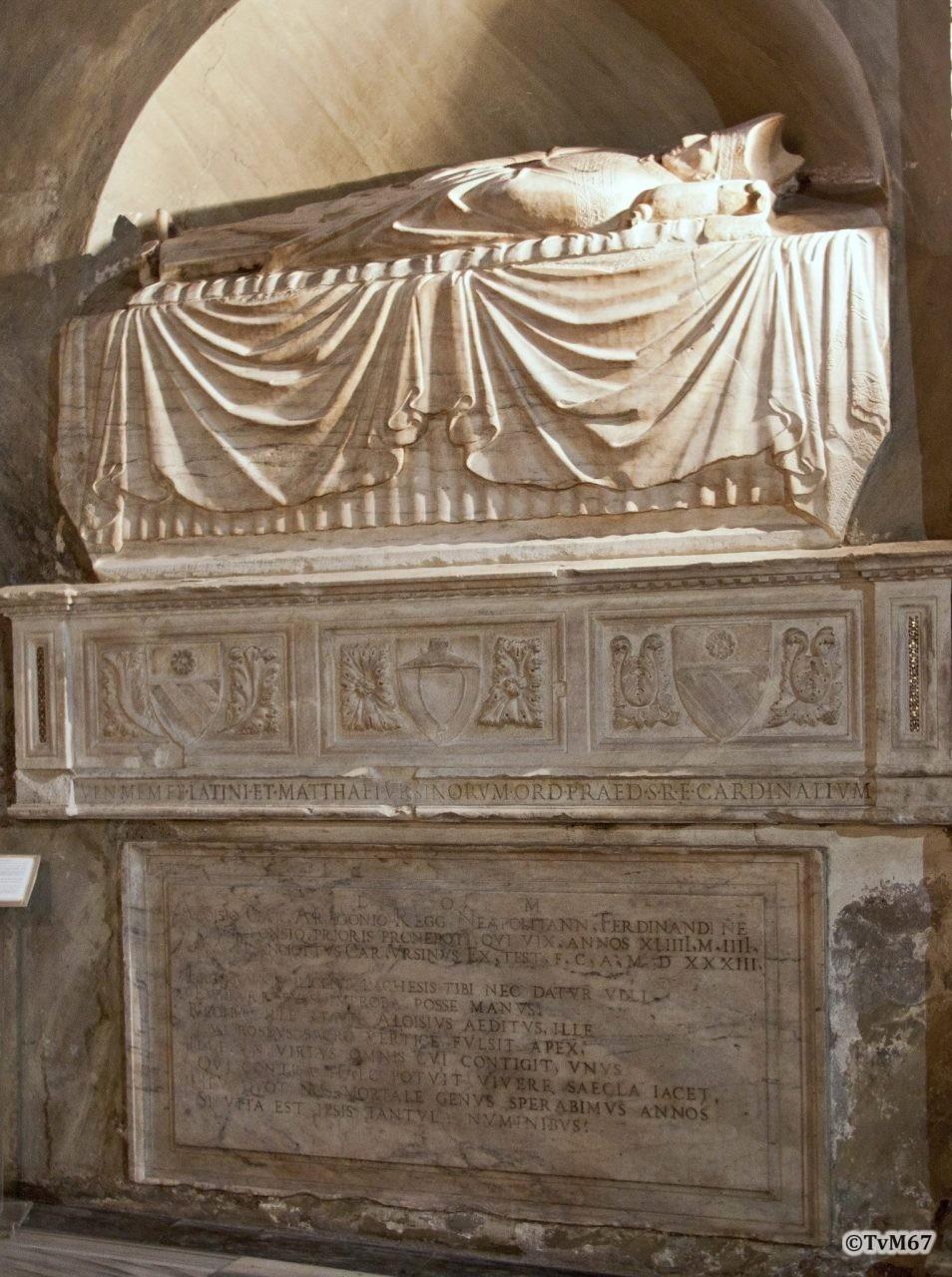Roma, Chiesa di Santa Maria sopra Minerva, 1e koorkapel links, Vestibolo, Monument voor de Orsini