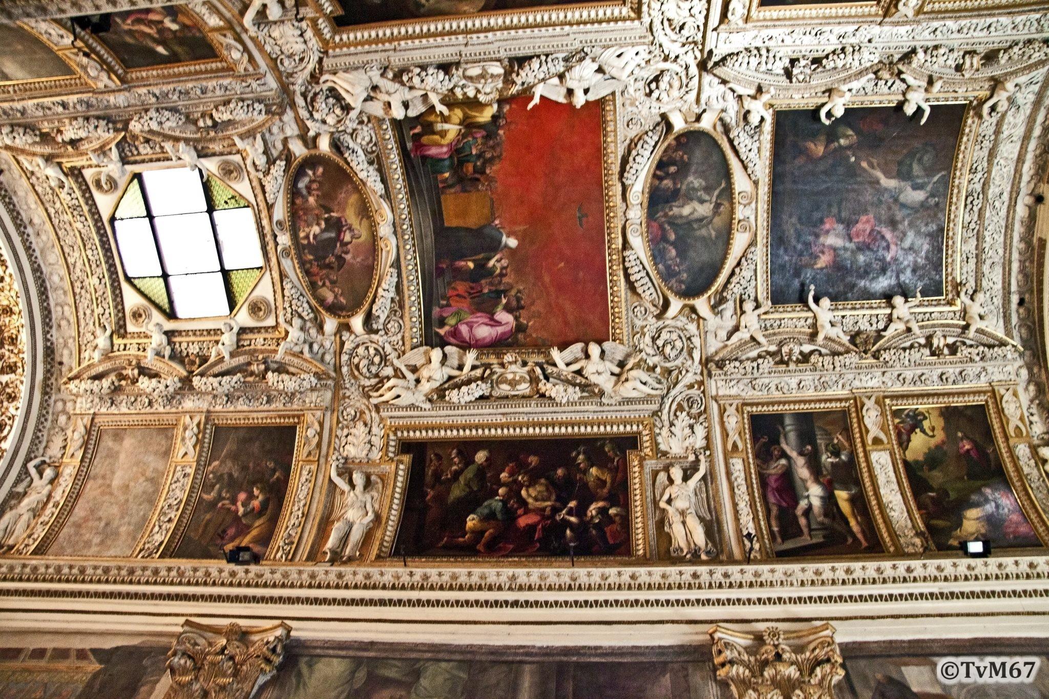 Roma, Chiesa di Santa Maria sopra Minerva, 1e koorkap re, Cap Capranica, Venusti, plafond
