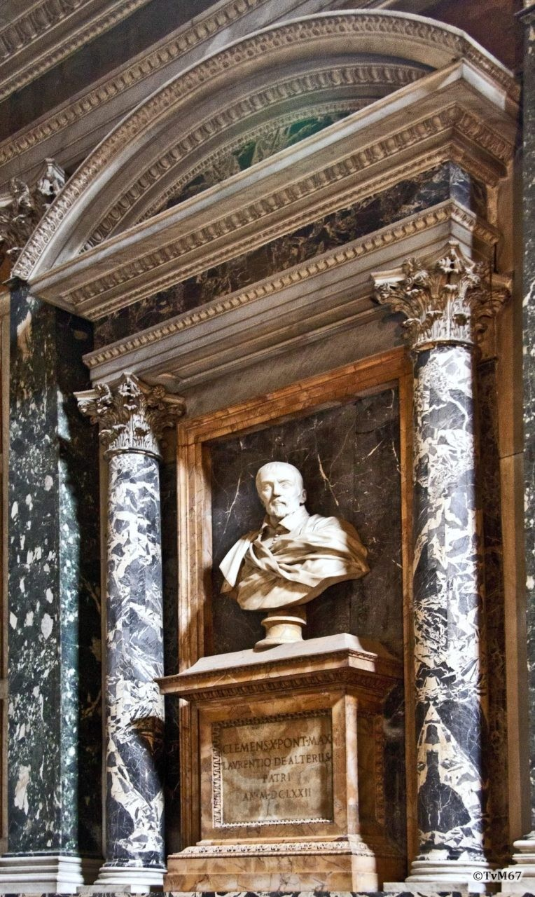 Roma, Chiesa di Santa Maria sopra Minerva, 2e koorkap re, Cap Ognissanti, Fancelli, graf Lorenzo Altieri, 2011