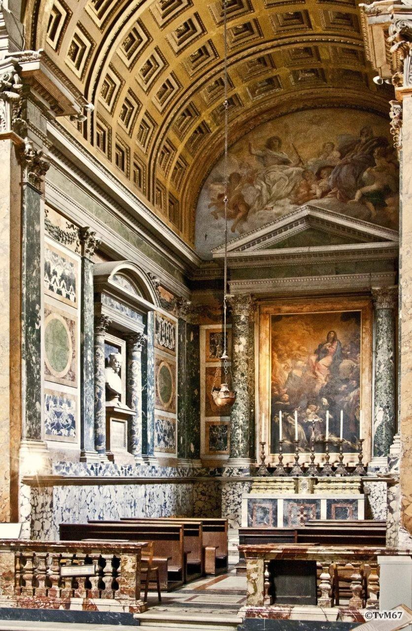 Roma, Chiesa di Santa Maria sopra Minerva, 2e koorkap re, Cap Ognissanti, overzicht, 2011
