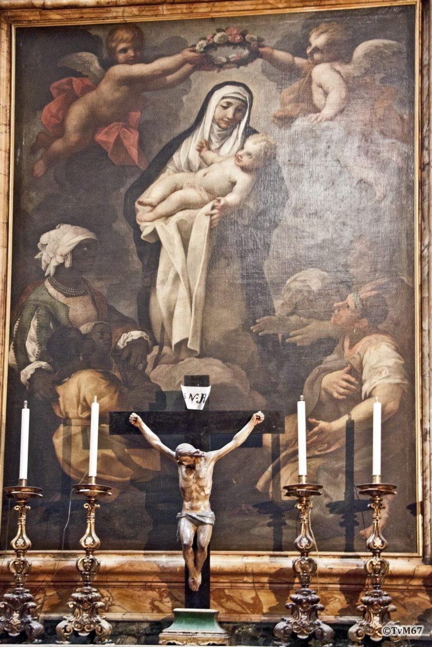 Roma, Chiesa di Santa Maria sopra Minerva, 3e k re, Cap Colonna, Baldi, Santa Rosa da Lima, 2011