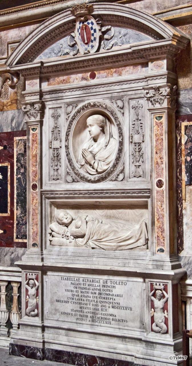Roma, Chiesa di Santa Maria sopra Minerva, 3e k re, Cap Colonna, graf Isabella Alvarez da Toledo, 2011