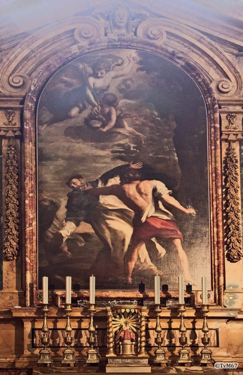Roma, Chiesa di Santa Maria sopra Minerva, 4e k re, Cap Gabrielli, Lambert, Dood van Sint Petrus Martelaar