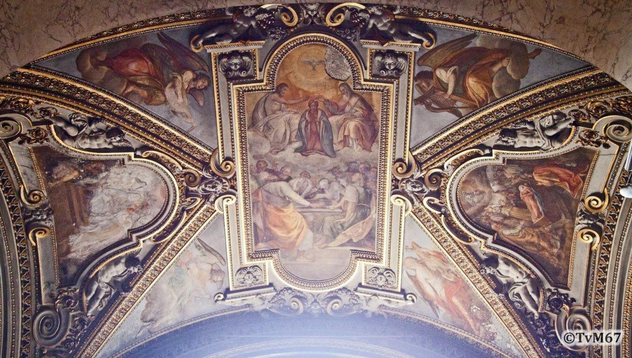 Roma, Chiesa di Santa Maria sopra Minerva, 5e k re, Cap della Annunziata, gewelf