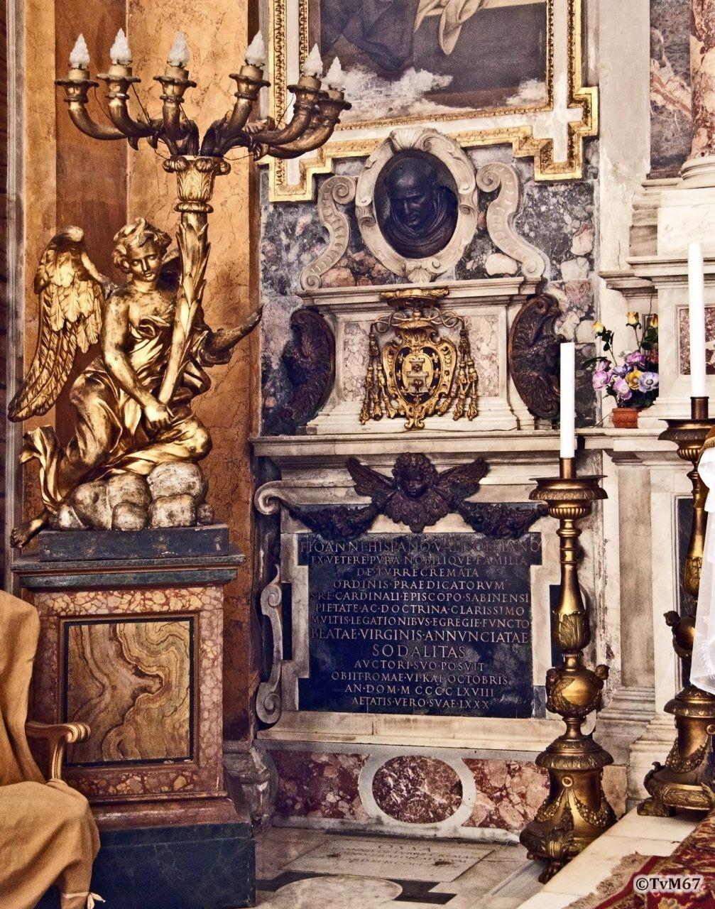 Roma, Chiesa di Santa Maria sopra Minerva, 5e k re, Cap della Annunziata, graf Torquemada