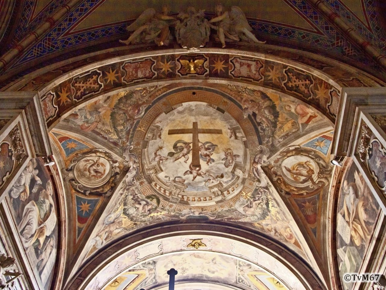 Roma, Chiesa di Santa Maria sopra Minerva, 6e k re, Cap Aldobraindini, Alberti, gewelf