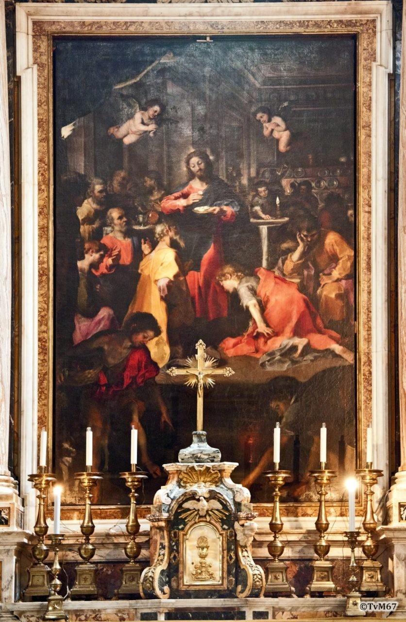 Cappella Aldobrandini, Roma, Chiesa di Santa Maria sopra Minerva, Cappella Aldobrandini, Barocci, Instelling van de Eucharistie