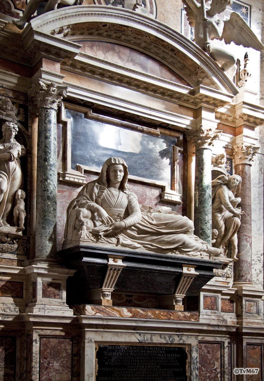 Cappella Aldobrandini, Monumenten van Lesa Deti (links) en Silvestro Aldobrandini (rechts)
