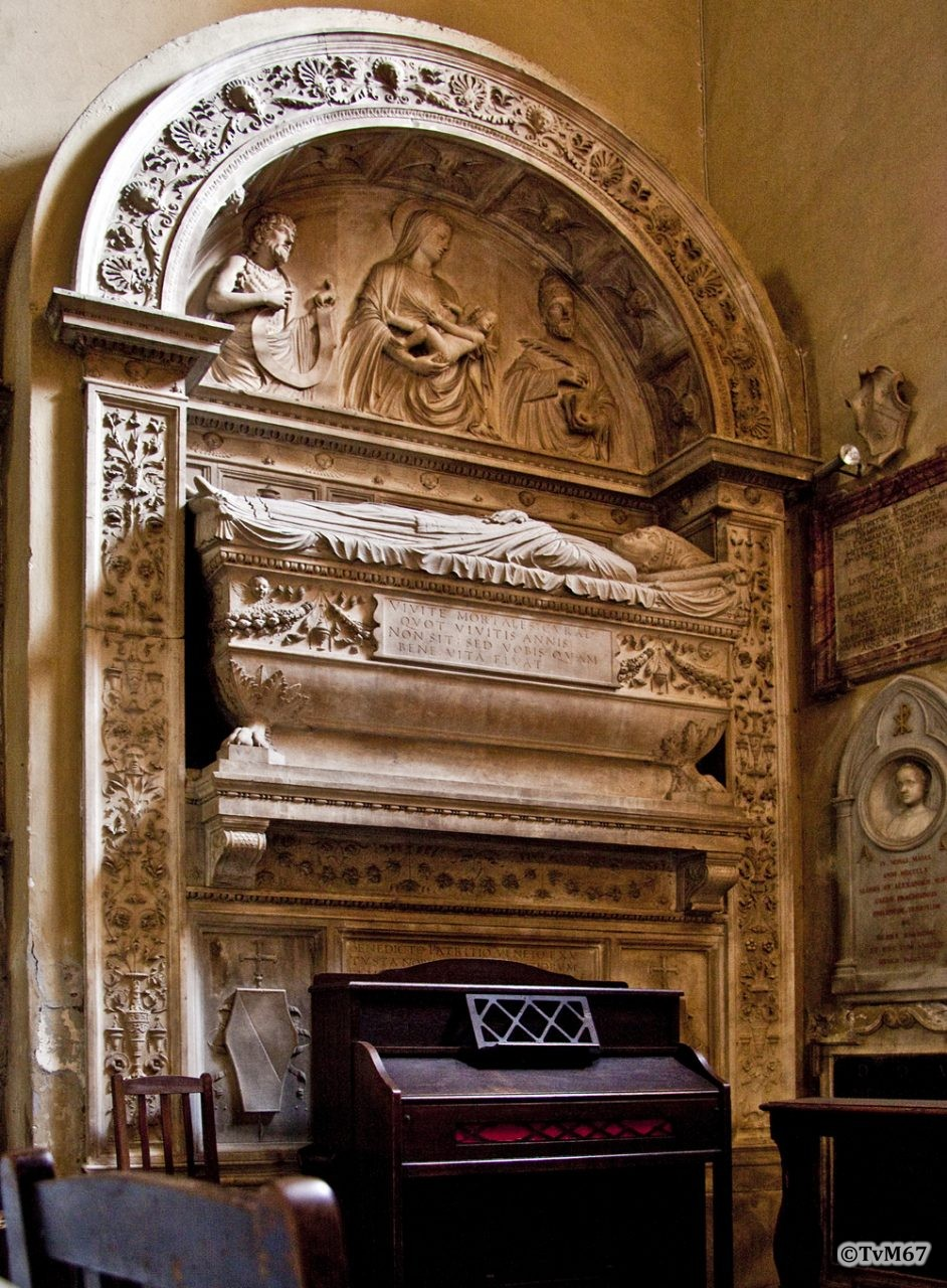Roma, Chiesa di Santa Maria sopra Minerva, 7e k re, Cap di San Raimondo de Peñafort, Mon Benedetto Sopranzi