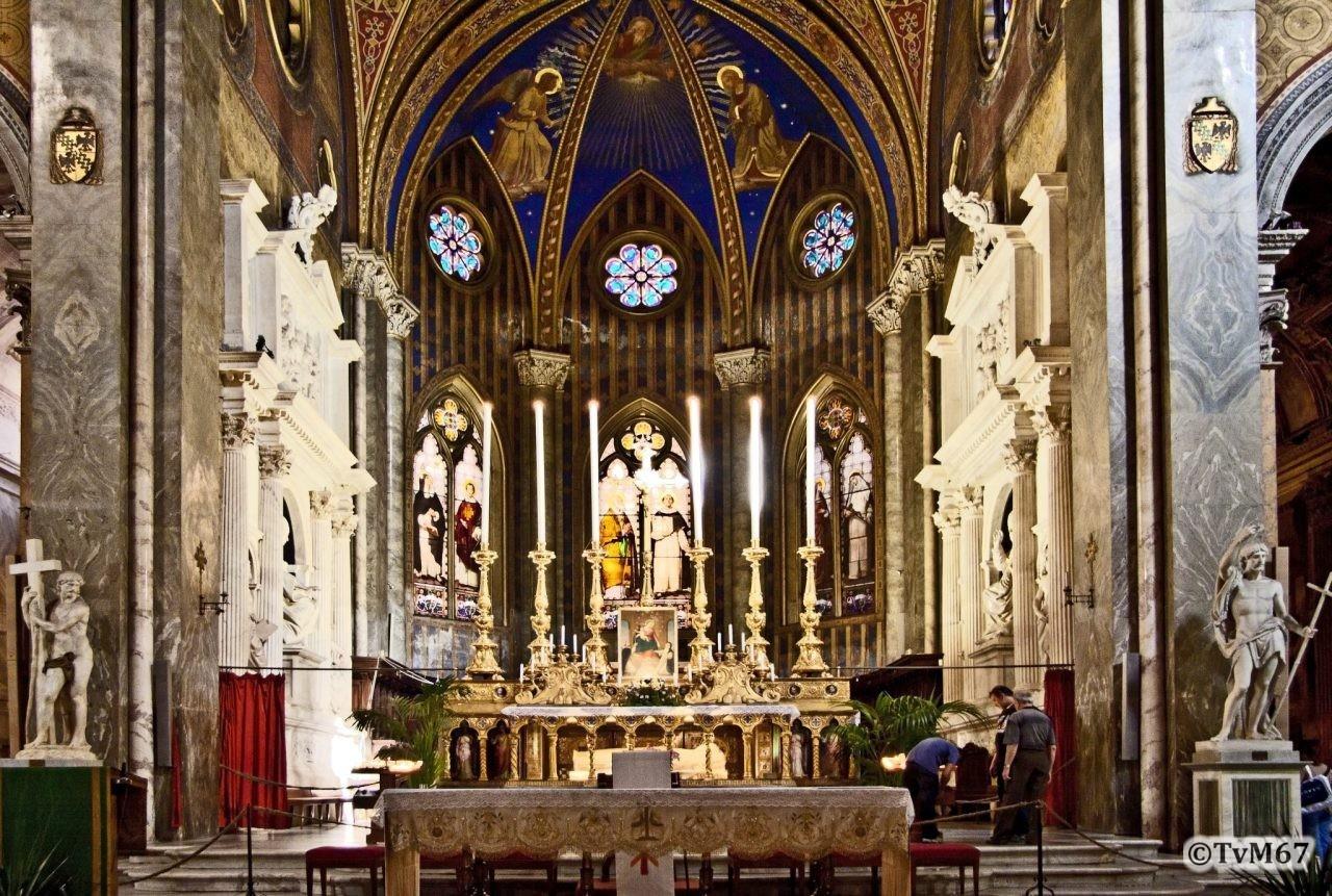 Roma, Chiesa di Santa Maria sopra Minerva, Apsis 2, HDR, 2009