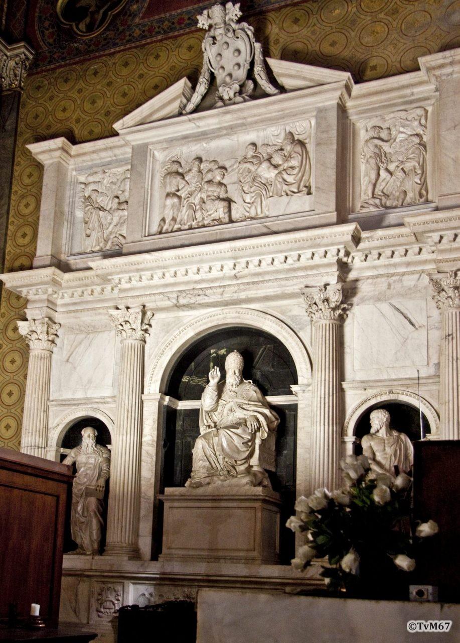 Roma, Chiesa di Santa Maria sopra Minerva, Apsis, Da Sangallo il Giovanne, Monumenten van paus ClemensVII