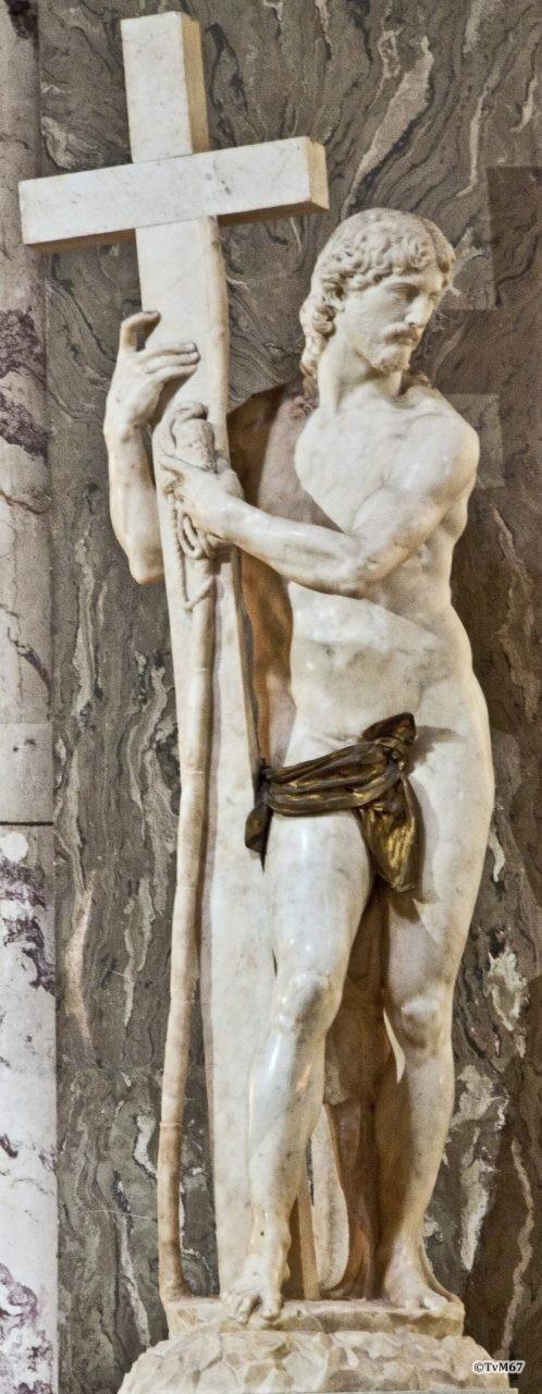 Pilaar links van apsis, Michelangelo, Cristo Redentore