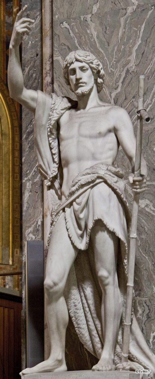 Roma, Chiesa di Santa Maria sopra Minerva, Apsis, pilaar re, Obici, Johannes de Doper