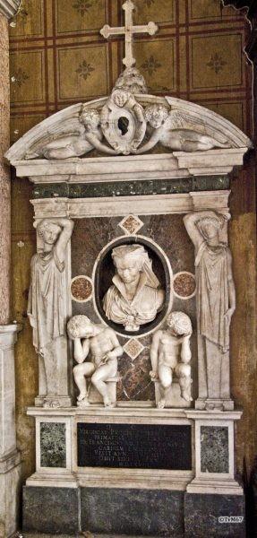 Roma, Chiesa di Santa Maria sopra Minerva, Ingangsgevel binnenzijde re, Mon Virginia Pucci-Ridolfi, 2009