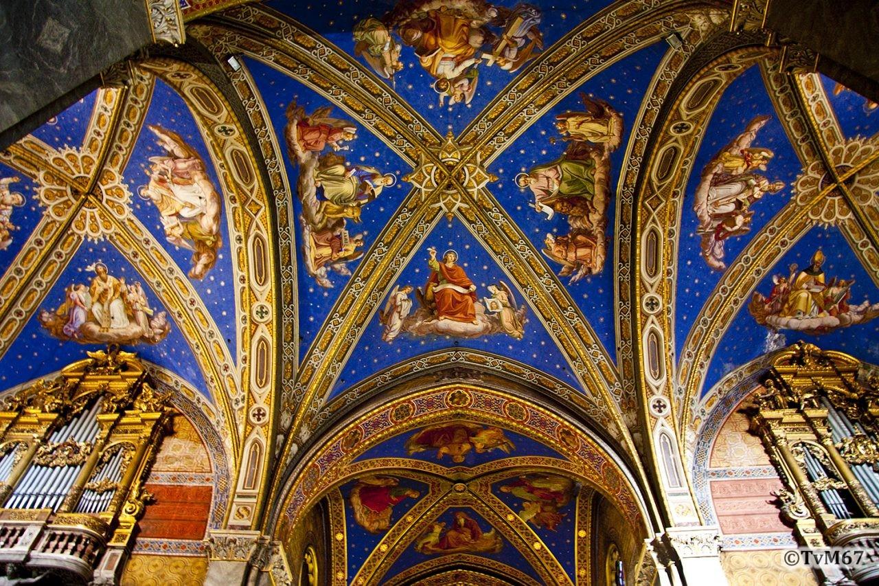 Roma, Chiesa di Santa Maria sopra Minerva, Middenschip, Plafond 4, 2009