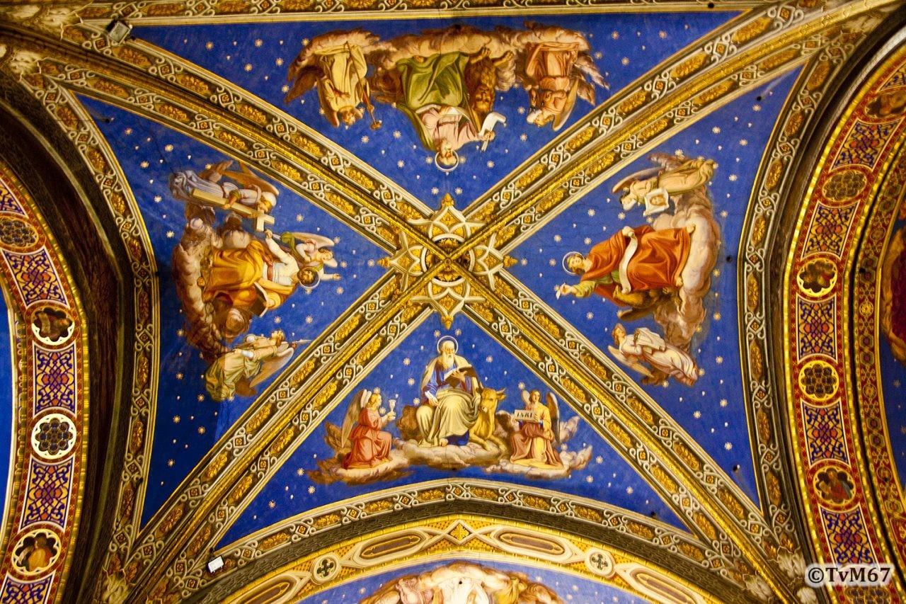 Roma, Chiesa di Santa Maria sopra Minerva, Middenschip, Plafond 5, 2009