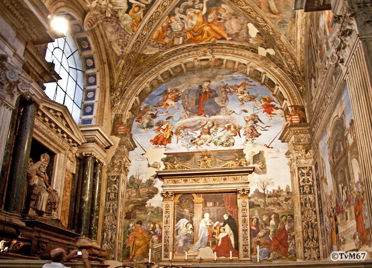 Roma, Chiesa di Santa Maria sopra Minerva, trans re, Cap Carafa, Overzicht 2