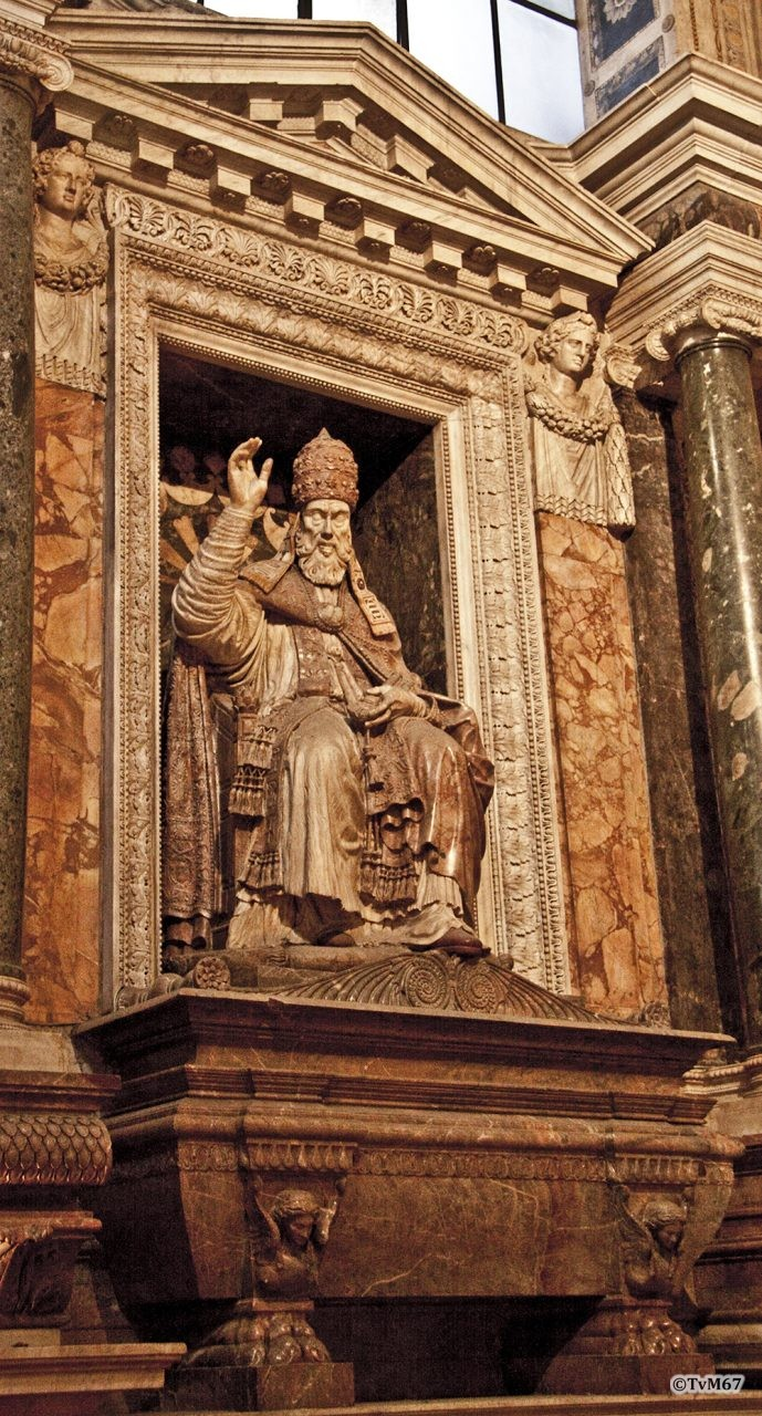Roma, Chiesa di Santa Maria sopra Minerva, trans re, Cap Caraffa, Mon paus Paulus IV, 2009