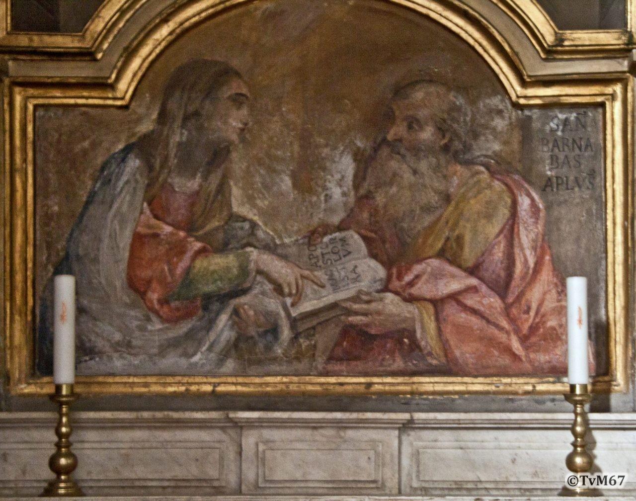 Cappella del Crocifisso, Sint Barnabas en Maria Magdalena