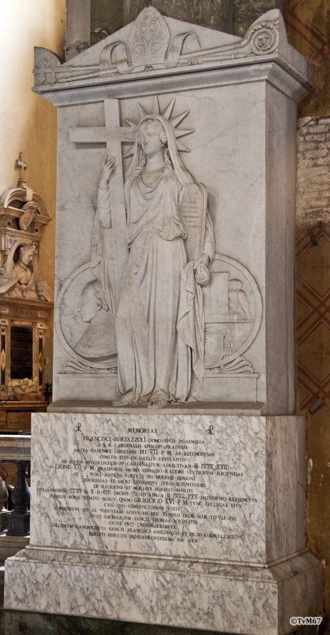 Roma, Chiesa di Santa Maria sopra Minerva, tussen 6e en 7e k re, Rinaldi, graf Bertazzoli