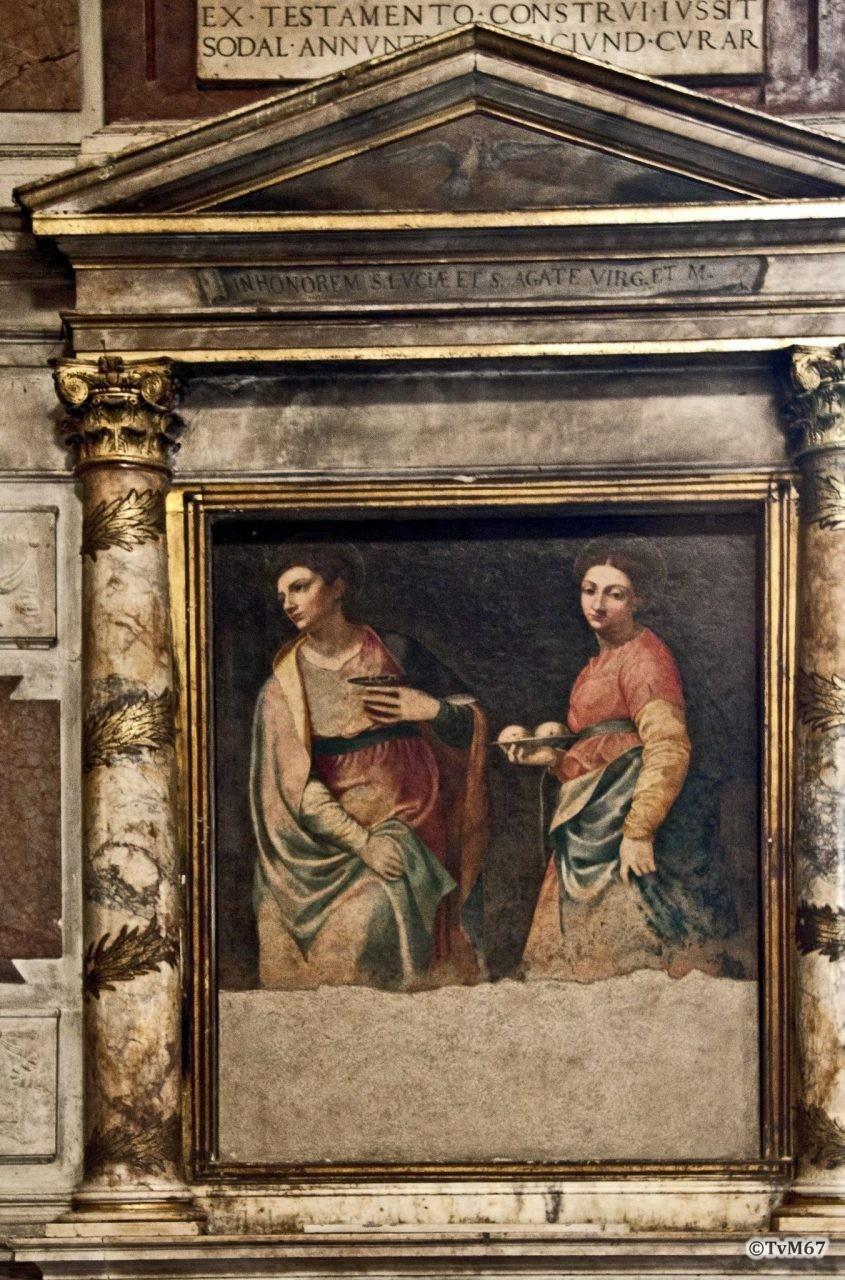 Roma, Chiesa di Santa Maria sopra Minerva, tussen 7e k re en trans re, Siciolante da Sernoneta, Santa Lucia en Agata