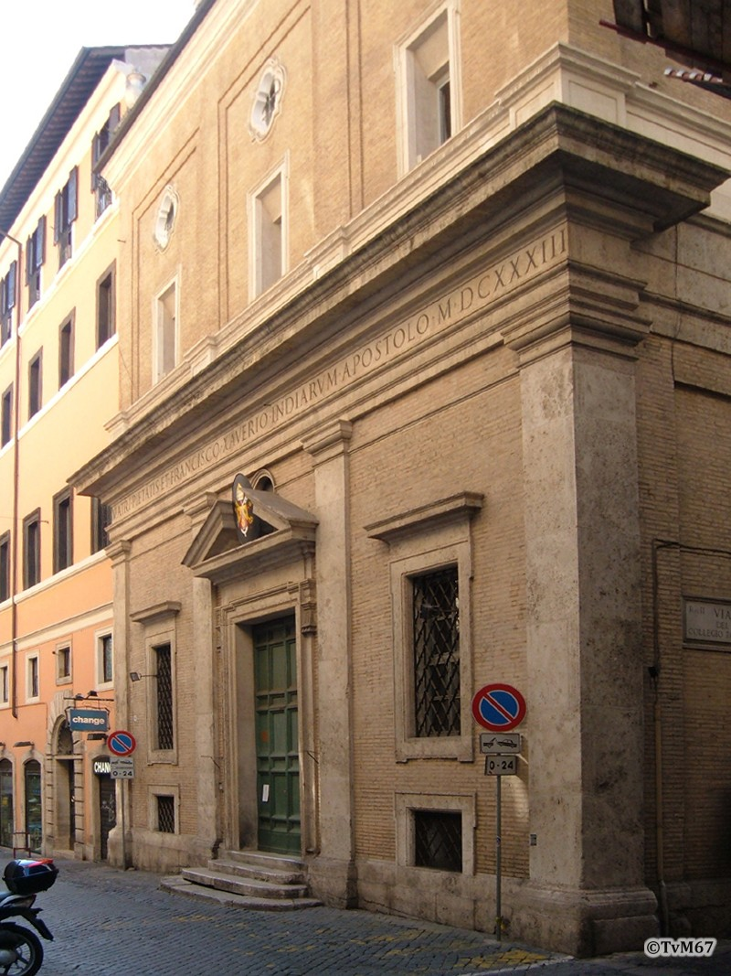 Roma, Oratorio de San Francesco Saverio, Gevel*
