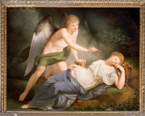 Painting of Cupid and Psyche from the Palazzo Altieri