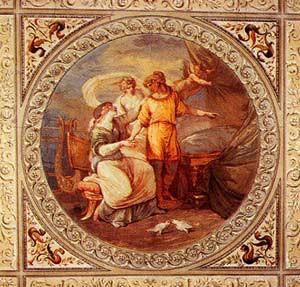 Roma, Palazzo Altieri, Felice Giani, zaal van Helena en Paris, plafondfresco (internet)