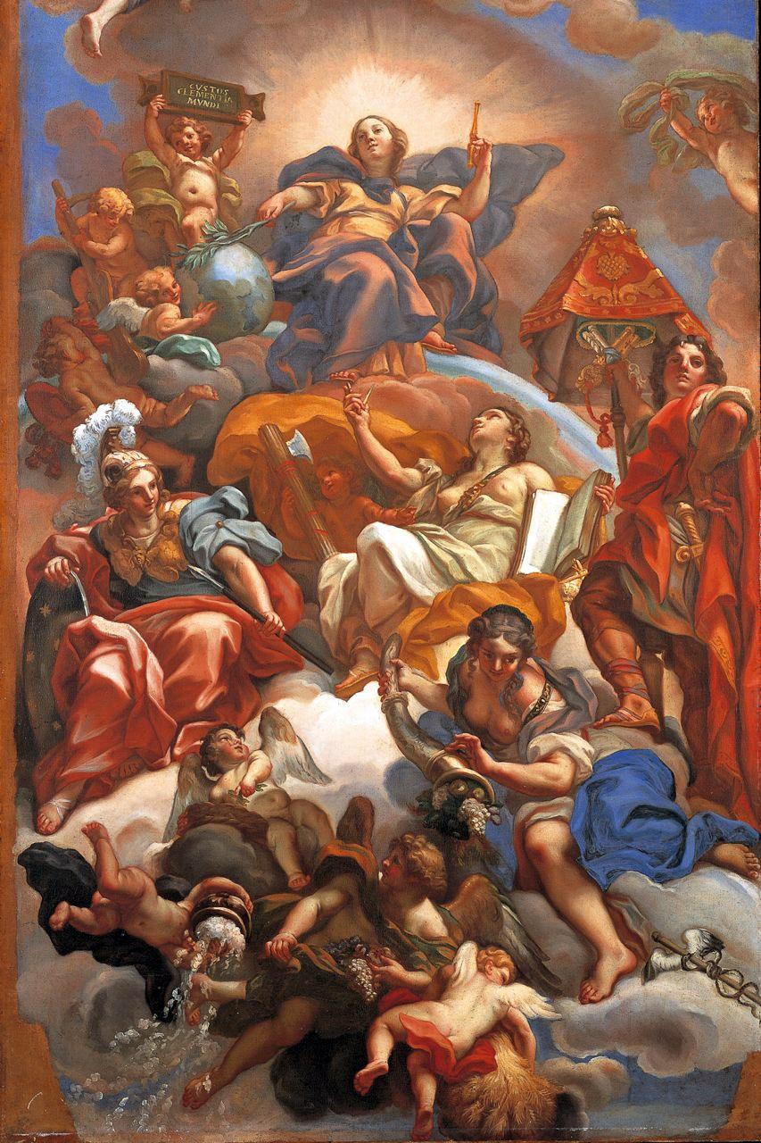 Sala della Clemenza, Maratta, Maratta, Trionfo della Clemenza *