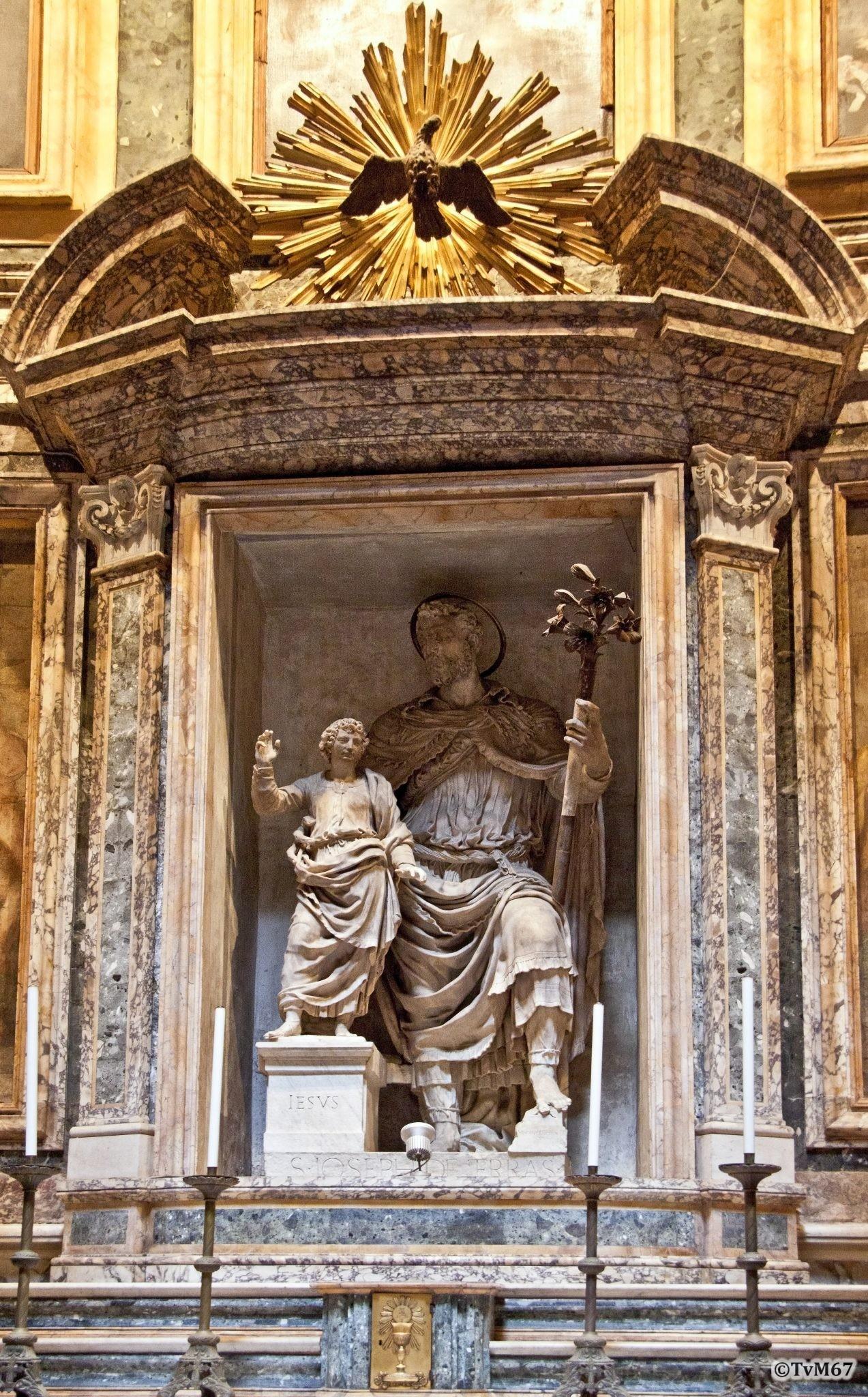 Roma, Pantheon, 7e k, Cap di San Giuseppe di Terra Santa, De Rossi, San Giuseppe en Gesù fancillo 1