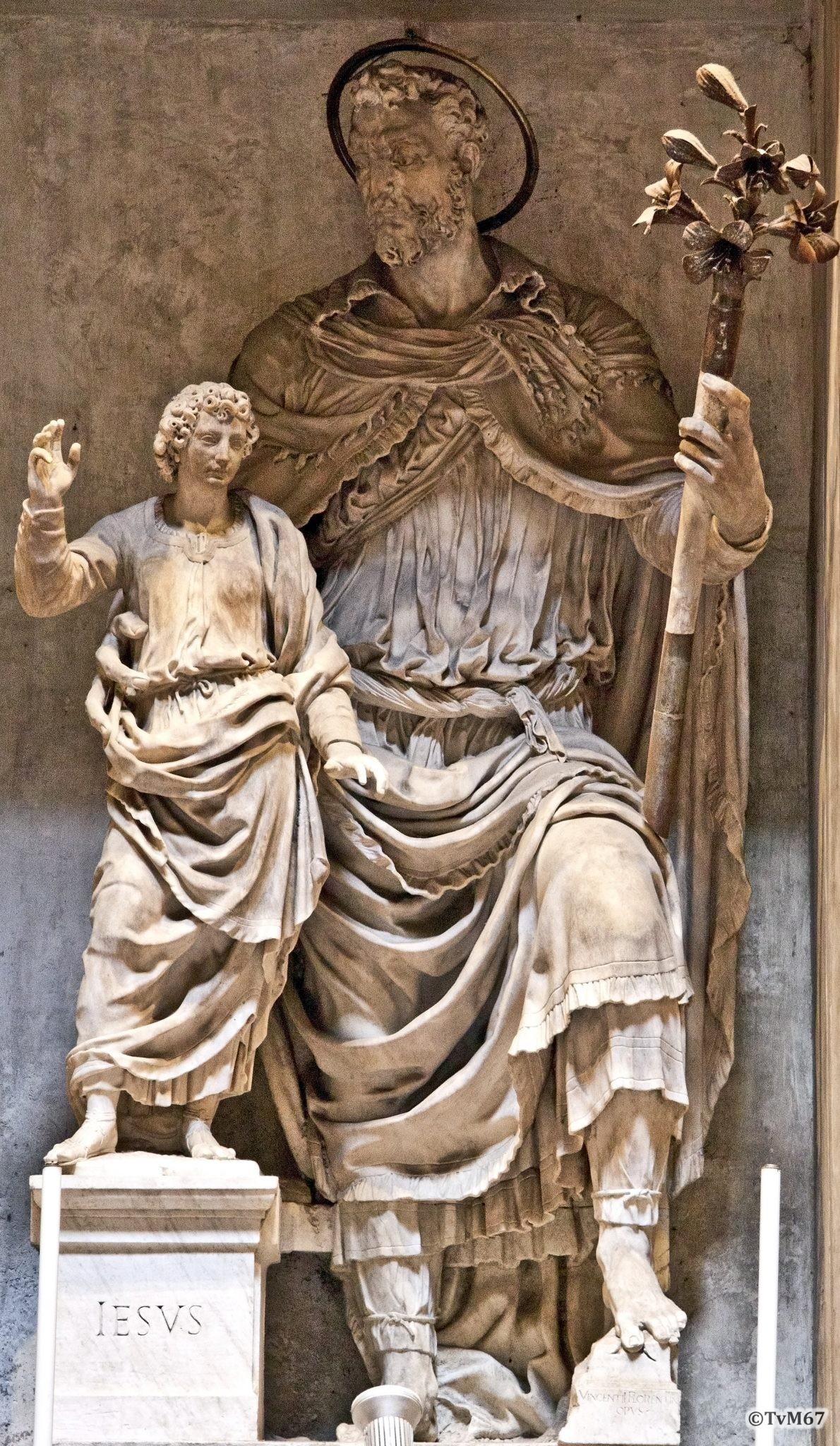 Roma, Pantheon, 7e k, Cap di San Giuseppe di Terra Santa, De Rossi, San Giuseppe en Gesù fancillo 2