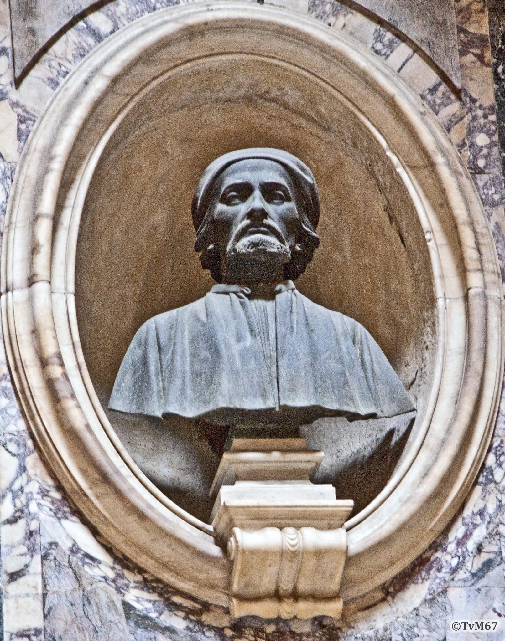 Tussen 6e en 7e kapel, Dupré, Buste van Peruzzi