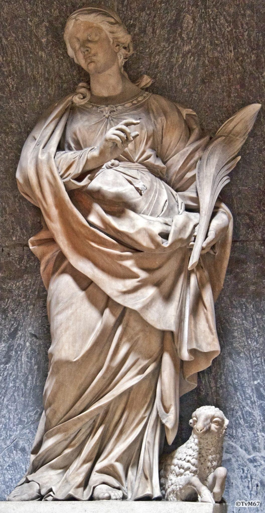 Roma, Pantheon, Aedicula tussen 6e en 7e k, Felici, Sant'Agnes, 2011