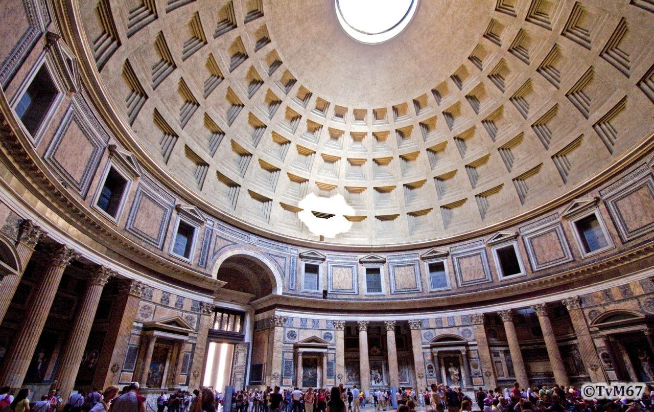 Roma, Pantheon, Binnenzijde ri ingang, 2009