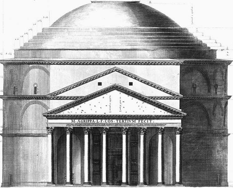 Roma, Pantheon, Geveltekening (internet)