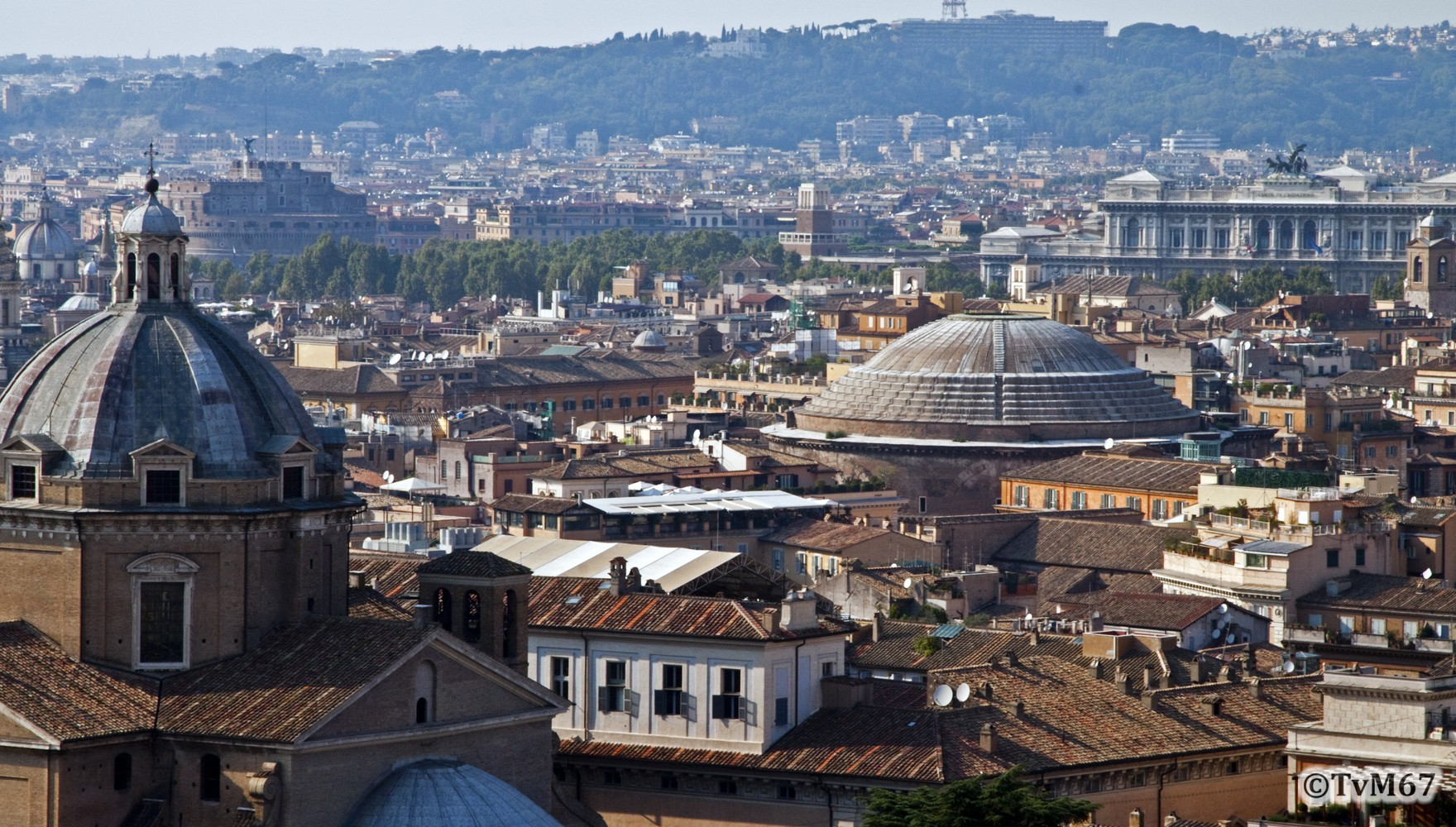 Roma, Pantheon, Gezien va de Vittoriano, 2009