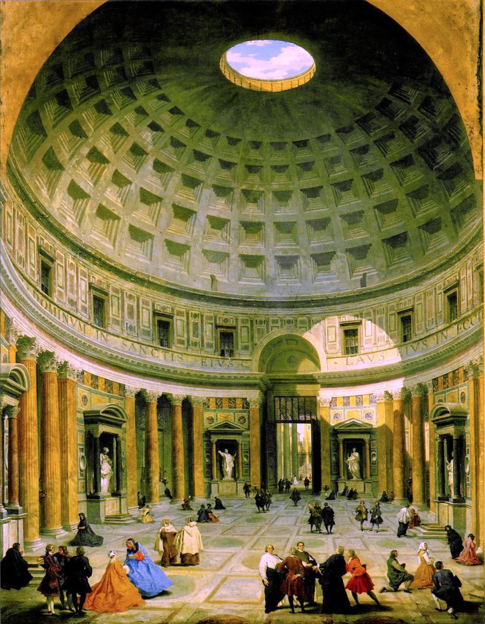Roma, Pantheon, Giovanni Paolo Panini, 17e eeuw (internet)