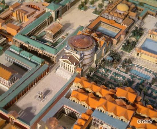 Roma, Pantheon, Maquette uit 4e eeuw (internet)