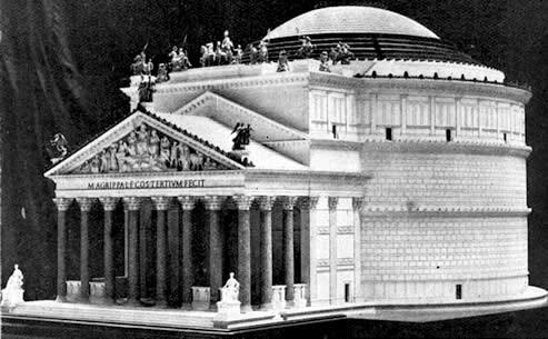 Roma, Pantheon, Model van reconstructie (internet)