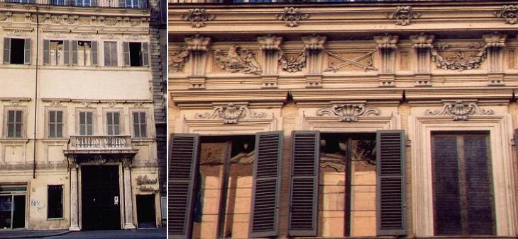 Palazzo Celsi Viscardi, portaal en kroonlijst
