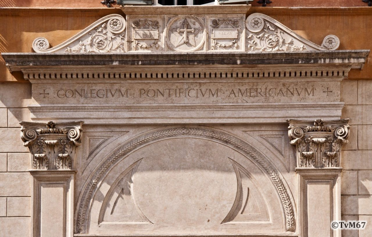Roma, Piazza della Minerva, Dominicanerklooster, deuropschrift