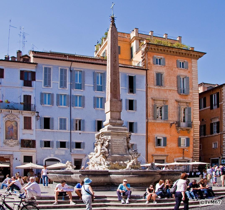 Roma, Piazza della Rotonda, Fontein 1, 2009