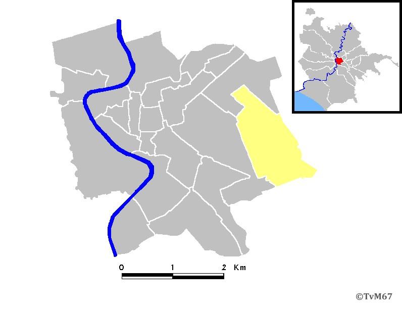 Roma, Rione dell'Esquilino XV, plattegrond