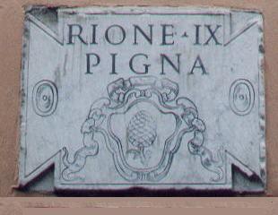 Roma, Rione della Pigna, Muursteen (internet)