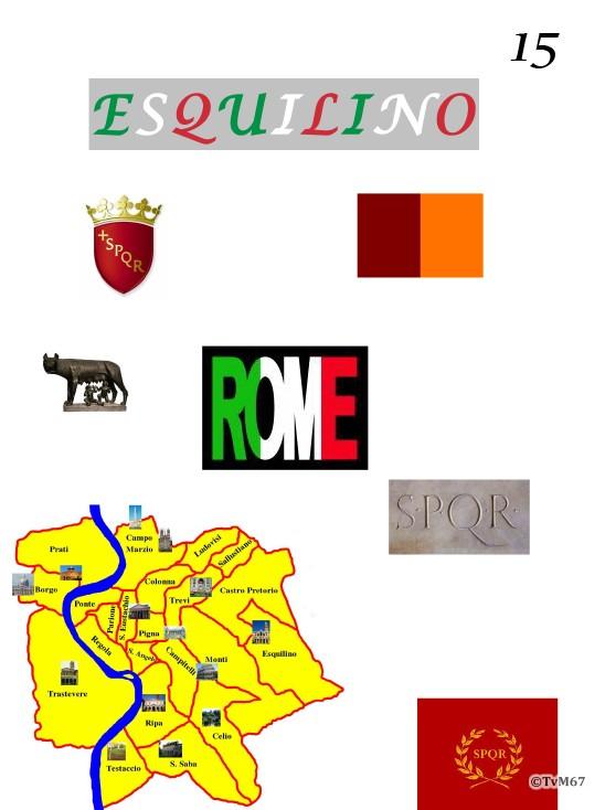 -Rione dell'Esquilino XV- voorblad